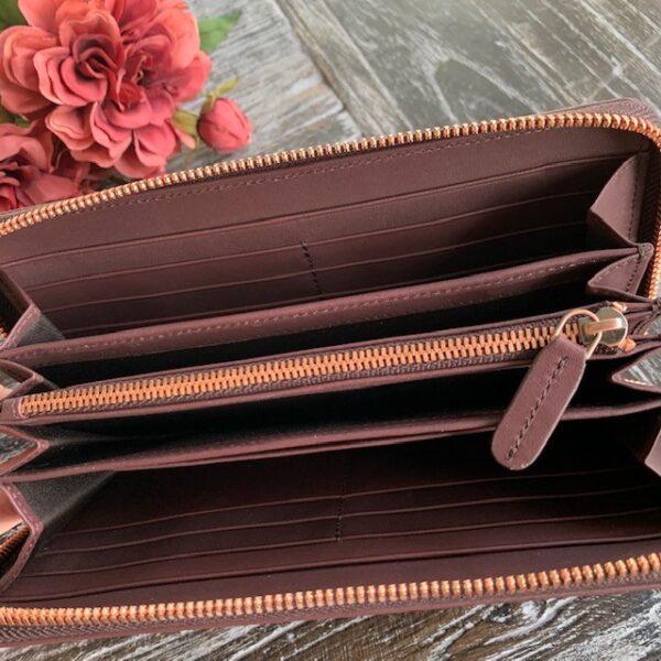 Damenportemonnaie aus Leder