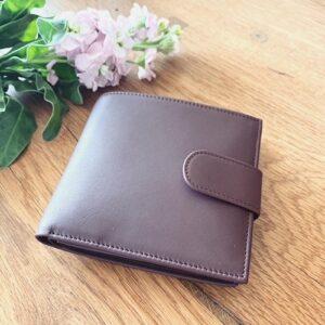 Portemonnaie aus Leder für Damen in maroon