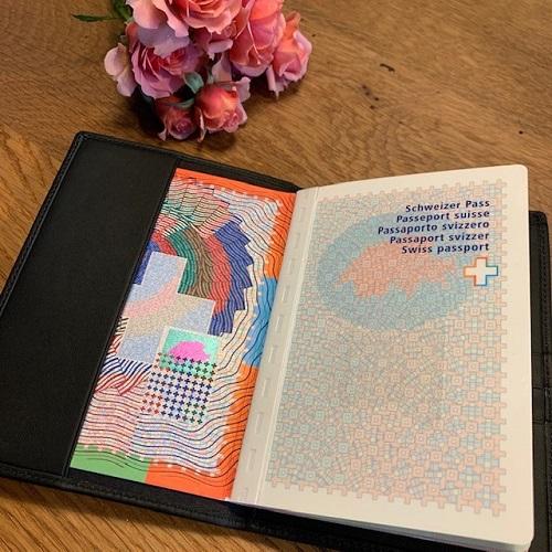 Reisepassetui von Design in Leder